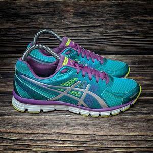 Asics Gel Horizon Running Shoe Teal Purple sz 6.5